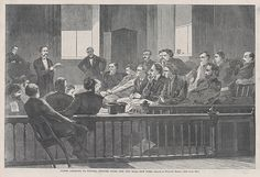 Winslow Homer   Jurors Listening to Counsel, Supreme Court, New York City Hall, New York – Drawn by Winslow Homer (Harper's Weekly, Vol. VIII)   The Met