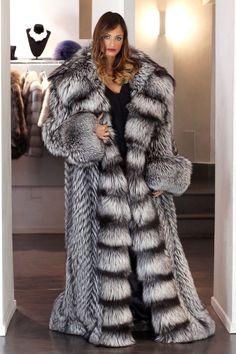Fur Coat Jacket Silver Fox Simply Wonderful Full Lenght Pelzmantel Fuchs ЛИСА   eBay