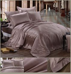 Silk sheets it is nice to pamper oneself just a little. One way to do that is give yourself a good night's sleep on silk sheets. Silk Bedding, Crib Bedding, Bedding Sets, Bedspread, Silk Sheets, Silk Sheet Sets, Bedroom Decor For Teen Girls, Bedroom Accessories, Luxury Bedding
