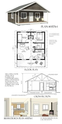 DIY Cabins The Sapphire Cabin House Plans Small