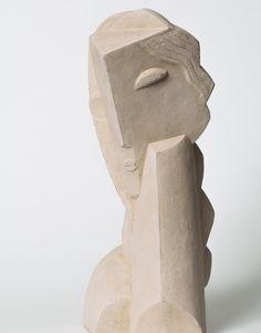 HENRI LAURENS, Tête de Jeune Fillette (Head of a Girl), 1920. Material terracotta. / Bukowskis