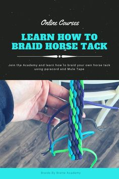 Learn how to braid horse tack the easy way with the help of our online courses, beginner friendly. Horse Gear, Horse Tack, Horse Stalls, Breyer Horses, Horse Barns, Equestrian Outfits, Equestrian Style, Equestrian Problems, Horse Braiding