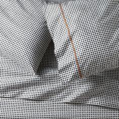 Set of 2 Pebble Slate Grey Standard Pillow Cases - Crate and Barrel Best Sheet Sets, Kids Sheet Sets, Kids Sheets, Best Sheets, Ikea Ekby, Queen Sheets, Patterned Sheets, Crate And Barrel, Linen Bedding