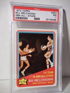 1972 Topps Bill Melchionni PSA NM 7 Basketball Card #253 NBA Collectible…