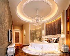 Big round bed