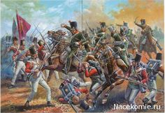 attack of the 13th cavalry regiment of Chasseurs against the 3rd Guards at Fuentes de Onoro May 5, 1811