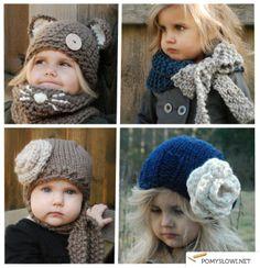 Lista inspiracji strona 207 - Pomyslowi.net Children Clothes, Kids Hats, Kids Outfits, Scarves, Crochet Hats, 1, Knitting, Fashion, Knits