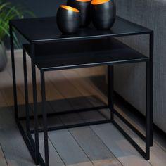 Charrell - SIDE TABLE SALANDER S/2 - 50X50X50   42X42X42 CM (image 3)