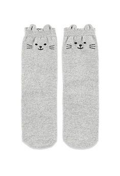 Cat Ear Crew Socks | Forever 21 - 2000141493