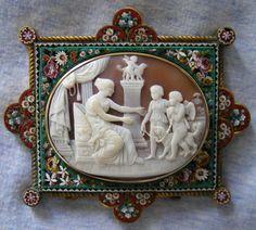 micro-mosaic cameo