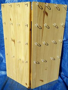 Custom Made Folding Wooden Craft Show Display! Made to any size and color! - Custom Made Folding Wooden Craft Show Display! Made to any size and color! Craft Show Booths, Craft Booth Displays, Craft Show Ideas, Display Ideas, Booth Ideas, Shop Displays, Flea Market Displays, Display Case, Earring Display