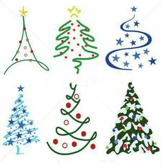 Weihnachtsbaum-Design-Set – Sechs Baum-Designs im Set - Weihnachten Christmas Tree Design Set – Six tree designs in set Stock Vectors and millions of other royalty-free stock photos, illustrations, and vectors in the Shutterstock collect Christmas Tree Design, Christmas Art, Christmas Tree Decorations, Vector Christmas, Painted Christmas Tree, Purple Christmas, Christmas Tables, Coastal Christmas, Modern Christmas