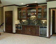 Wet bar idea for your basement. #basementbar www.HomeChannelTV.com