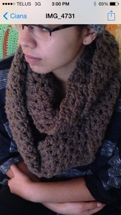 Just made this cowl scarf!! :)