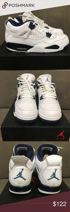 finest selection 3280e 6e5e9 Shop Men s Jordan White Blue size 11 Sneakers at a discounted price at  Poshmark.