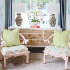 Pair of Lacquered Vintage Ming Chairs
