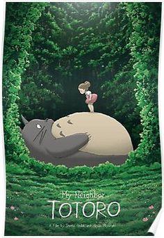 Totoro and Mei – Created by Kevin M. WilsonPrints available for sale at Hero Com… Totoro and Mei – Created Art Anime, Anime Kunst, Anime Artwork, Manga Art, Anime Manga, Hayao Miyazaki, Studio Ghibli Films, Art Studio Ghibli, Studio Ghibli Poster