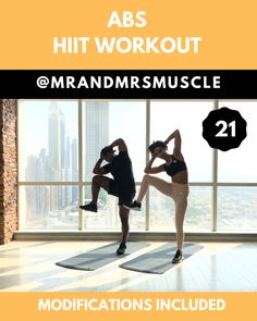 Shape your abs and BURN Calories in this fun and intense Standing Abs HIIT Workout. We have over 600 workouts on our IG Channel ( and Hundreds of FULL LENGTH Full Body Hiit Workout, Hiit Workout At Home, Gym Workout Videos, Abs Workout Routines, Fitness Workout For Women, 10 Minute Workout, Workout Abs, Fitness Men, Fitness Logo
