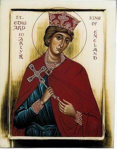 St Edward Martyr King of England - icon by Aidan Hart Adele, Anglo Saxon Chronicle, English Monarchs, Tudor Monarchs, Plantagenet, English Royalty, Catholic Saints, British History, European History