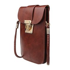 New Fashion Universal Mobile Phone Bag Leather Pocket Wallet Pouch Case Messenger Bag Cross-body Shoulder Bags For iPhone 6S YM1