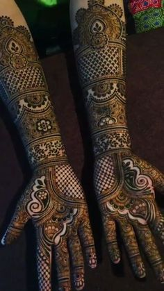 Bridal mehndi designs for every kind of bride Henna Hand Designs, Mehndi Designs Finger, Engagement Mehndi Designs, Latest Bridal Mehndi Designs, Indian Henna Designs, Full Hand Mehndi Designs, Legs Mehndi Design, Mehndi Designs 2018, Mehndi Designs For Girls