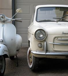 Vespa GS160 and Vespa 400 car