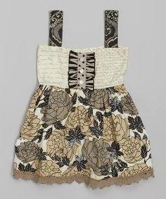 Look at this #zulilyfind! Cream Floral Tunic - Infant, Toddler & Girls #zulilyfinds