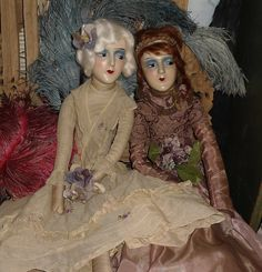 RESERVED for Gloria Puurrrdy Antique Boudoir Doll
