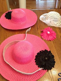 How to decorate a hat for Easter, Kentucky Derby, etc., without spending alot of money. Kentucky Derby Outfit, Derby Attire, Derby Outfits, Tea Hats, Tea Party Hats, Cloche Hats, Tea Parties, Tea Party Attire, Fascinator Hats
