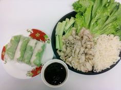 Dany home-made salad wrap springrolls #KhmerCuisine