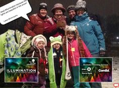 I liked #Illumination because the lights are beautiful in the snow! Lakes &Eckmayers, #MortonArboretum