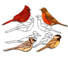 stained glass bird images free | Birds Obsession Pattern - Animals - Obsession Art Glass