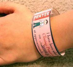 Primary Wristband Reminders (Prayer, Scripture, Talk, etc)