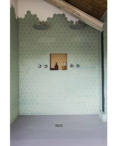 Green tile is trending in interior design. Here are 35 reasons why we can't get enough green tile. For more interior design trends and inspiration, visit domino. Bad Inspiration, Bathroom Inspiration, Interior Inspiration, Bathroom Ideas, Bathroom Green, Bathroom Styling, Bathroom Designs, Bathroom Hacks, Remodel Bathroom