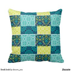 fresh look throw pillows $33.50 per pillow   Artwork designed by decore_you