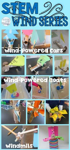 It's March and this set of STEM Challenges is perfect for this windy month! Each deals with using wind power in some way!