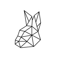 geometric rabbit head tete lapin geometrique