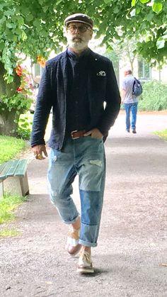 Anky 🎈 mature fashion, older mens fashion, old man fashion, denim fashion Older Mens Fashion, Old Man Fashion, Mature Fashion, Denim Fashion, Workwear Fashion, Fashion Fashion, Street Fashion, Moda Hipster, Mode Man