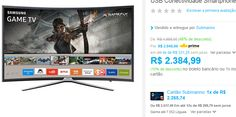 """Smart TV Games LED 49"""" Samsung UN49K6500 Full HD Curva 49k6500 com Conversor Digital 3 HDMI e 2 USB Wi-Fi 60Hz << R$ 226574 >>"""