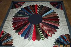 Necktie Quilt - Good way to have someone create something after a man in your life passes away.