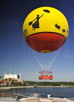 Characters in Flight Balloon Ride at Downtown Disney, Walt Disney World, FL