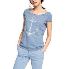 T-shirt z kotwicą ESPRIT