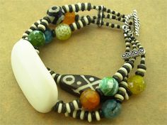 """#beads Create your own """"Boho Elegance"""" bracelet with our kit which includes all beads, findings and components, plus detailed instructions with photos and diagrams. Your kit will arrive nicely packaged so it can be given as a gift! This is an intermediate level project. #happpymangobeads"""