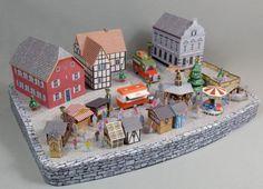 Rheinallee Christmas Market Diorama Free Papercraft Download