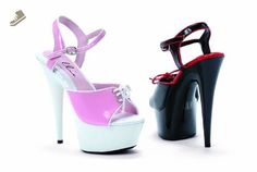 Women's 6 Inch Pointed Stiletto Two Tone Sandal (Pink/White;11) - Ellie shoes pumps for women (*Amazon Partner-Link)