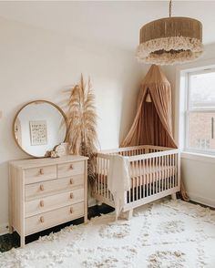 Neutral tones and soft textures. Who else is loving @__thenguyens' nursery? Click the image to try our free home design app. (Keywords: kids room decor, kids room ideas, kids room designs, dream rooms, house design, home decor ideas, kids room rugs, kids room furniture, positive vibes, positive thoughts, boho kids room, bunk beds, childrens room, baby room ideas) Baby Nursery Decor, Baby Bedroom, Baby Boy Rooms, Nursery Furniture, Baby Decor, Nursery Room, Baby Cribs, Bohemian Nursery, Nursery Dresser