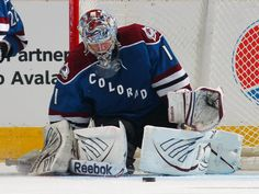 DENVER, CO - MARCH 20: Goalie Semyon Varlamov #1 of the Colorado Avalanche makes a save against the Calgary Flames at Pepsi Center on March 20, 2012 in Denver, Colorado. (Photo by Doug Pensinger/Getty Images)