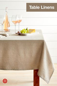 Give any table a quick makeover with a tablecloth, runner or centerpiece decor for kitchen, dining or entryway tables.