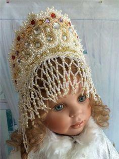 Кокошник из бисера / Мастер-классы, творческая мастерская: уроки, схемы, выкройки кукол, своими руками / Бэйбики. Куклы фото. Одежда для кукол