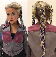 Ahsoka inspired hair, makeup, and jacket